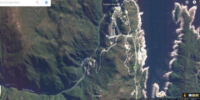 Gordon dam and roads below.JPG